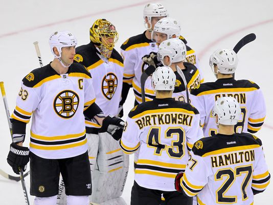 Bruins Over Devils, 5-4