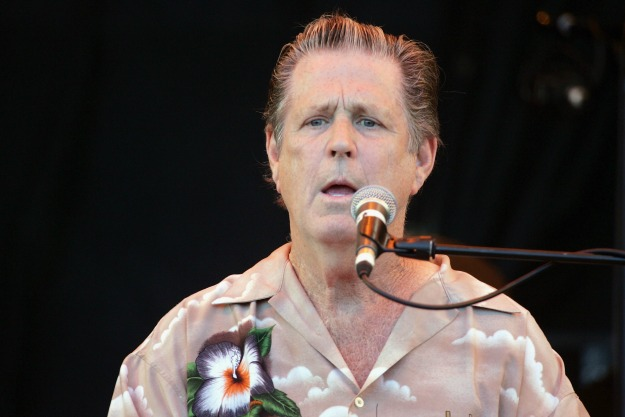 SOMERSET, ENGLAND - JUNE 26: Brian Wilson performs on the third and final day of the Glastonbury Music Festival 2005 at Worthy Farm, Pilton on June 26, 2005 in Somerset, England. (Photo by Matt Cardy/Getty Images)  *** Local Caption *** XXX