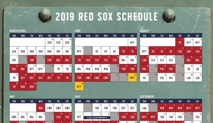 2019 Red Sox Schedule Released - Ace Ticket Blog : Ace